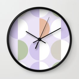 Mid Century Modern Sun and Moon Pattern 3 Wall Clock