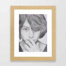 Kim Heechul Framed Art Print