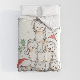 Oh Penguin Tree Comforters