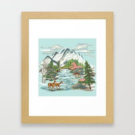 Paint by Number Mountain Medow Framed Art Print
