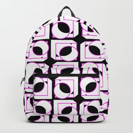 Tubes in Cubes Pink on Black Backpack