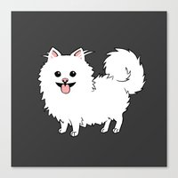 pomeranian Canvas Prints featuring Pomeranian by Robin Design