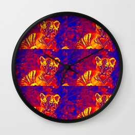 Aztec lion cub Wall Clock