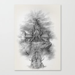Sovngarde Hall of Valor from Skyrim Canvas Print