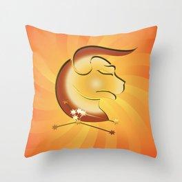 Sternzeichen Stier Throw Pillow