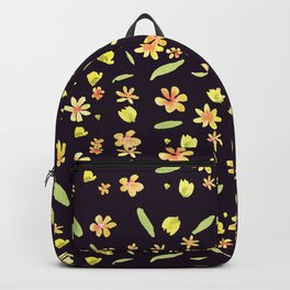 Yellow SPRING wild FLOWERS Backpack