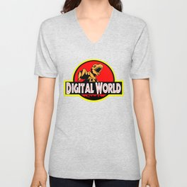 Digital World Logo MashUp Unisex V-Neck
