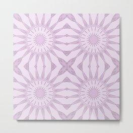 Lavender Pinwheel Flowers Metal Print