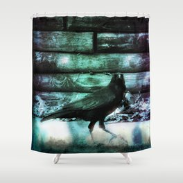 I Am Crow Shower Curtain