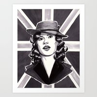 agent carter Art Prints featuring Agent Carter by Katy-L-Wood