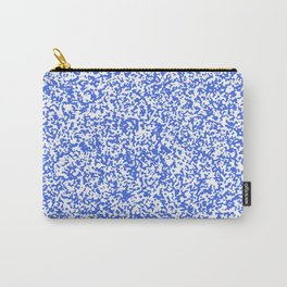 Tiny Spots - White and Royal Blue Carry-All Pouch