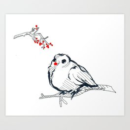Rudolph The Red Nose Birdy Art Print