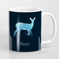 snape Mugs featuring Always by Duke Dastardly