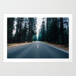 The Road Knows Art Print