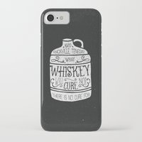 whiskey iPhone & iPod Cases featuring WHISKEY by magdam