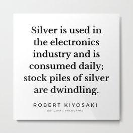 10  |  Robert Kiyosaki Quotes | 190824 Metal Print