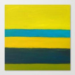yellow blue Canvas Print