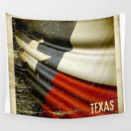 Grunge sticker of Texas (USA) flag Wall Tapestry