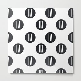 IN white logo - up in the air Metal Print