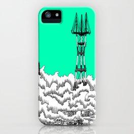 San Francisco - Sutro Tower (green sky) iPhone Case