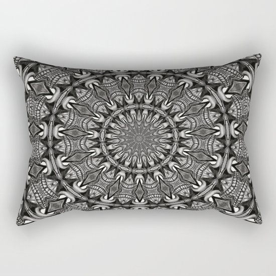 Monochrome Mandala Rectangular Pillow