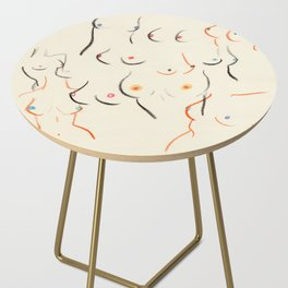 Breasts in Cream Side Table