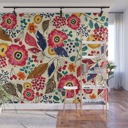 Botanical Block Print Wall Mural