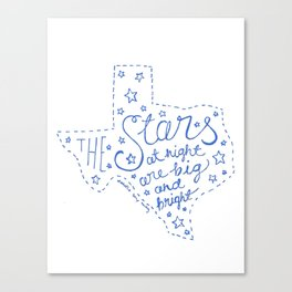 Stars at Night in blue Canvas Print