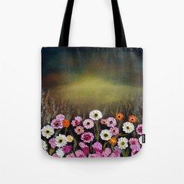 Stormy flowers Tote Bag