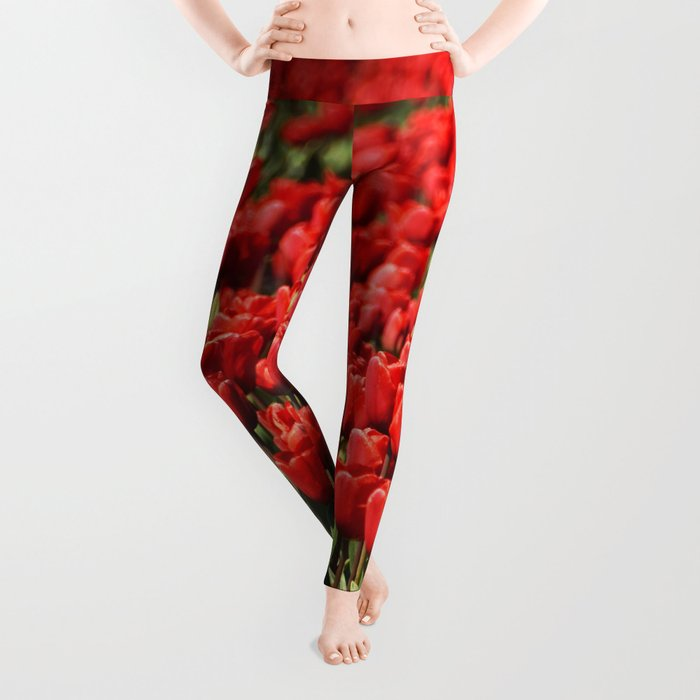 Tulips field #4 Leggings