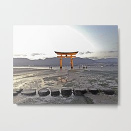 Miyajima Shrine Tokyo Japan Metal Print