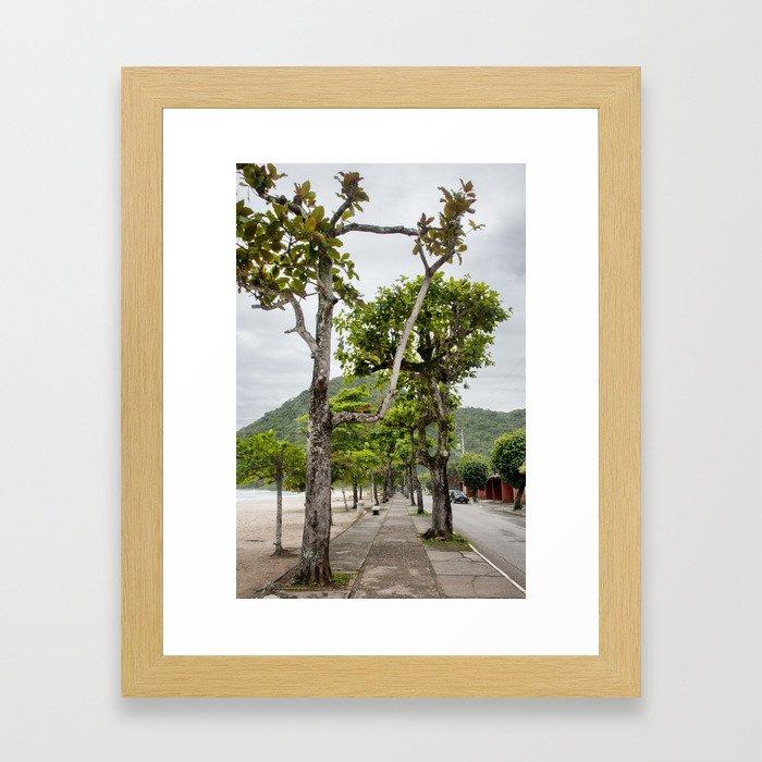 Street of Angra dos Reis (Brazil) Framed Art Print