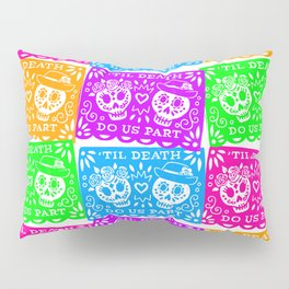 Day of the Dead Sugar Skull Papel Picado Flags Pillow Sham