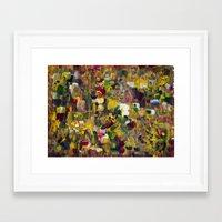 gustav klimt Framed Art Prints featuring Fantasy about Gustav Klimt by Lucid Infinity Art and Design
