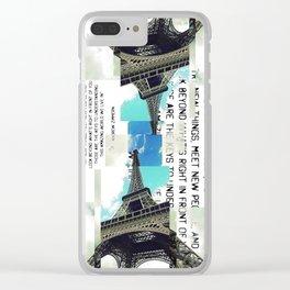 La Tour Eiffel Clear iPhone Case