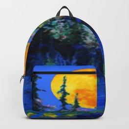FULL MOON OVER BLUE MOUNTAIN FOREST DESIGN Backpack