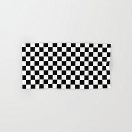 Black Checkerboard Pattern Hand & Bath Towel