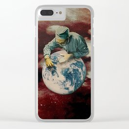 """Never seen so many people"" Clear iPhone Case"