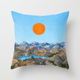Landscape NI Throw Pillow