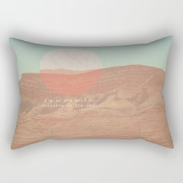dissolve in the sky  Rectangular Pillow