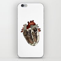 anatomical heart iPhone & iPod Skins featuring Anatomical Heart  by Whoosh