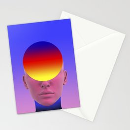 Gradient face Stationery Cards
