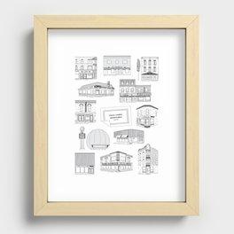 Casse-croûtes légendaires montréalais / Montreal Delis + Recessed Framed Print