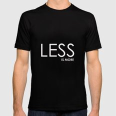 Less Is More -2 Black MEDIUM Mens Fitted Tee