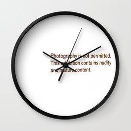I broke the law Wall Clock