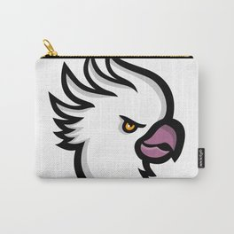 Crested Cockatoo Head Mascot Carry-All Pouch