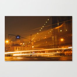 Downtown Brooklyn at Night Canvas Print