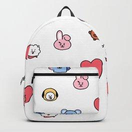 BT21 Sketched Pattern Backpack