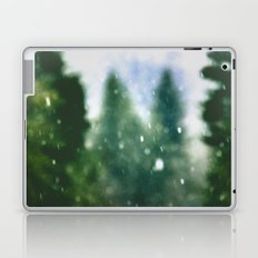 Snow Forest - Green Trees in Winter Laptop & iPad Skin