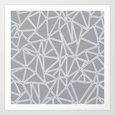 Ab Blocks Grey #2 Art Print
